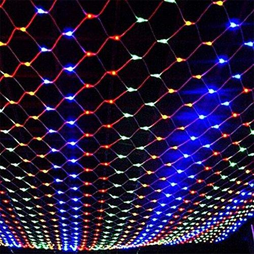 DOCHEER Colorful LED Fairy Mesh Net Lights Curtain Light, 9.84ft