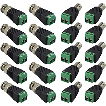 BNC Connector Adapter Male 2 pole terminal screw