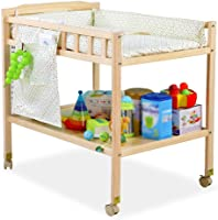 Baby Changing Station with Cotton Pad?Portable Diaper Table for Toddler Health Baby Care?with Wheels