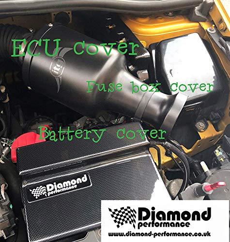 Diamond Performance Renault Clio 4, Rs, Motorraum Set: ECU, Batterie, Kühlmittel Bottle&fuse Box Abdeckung IN Kohlenstoff Effekt