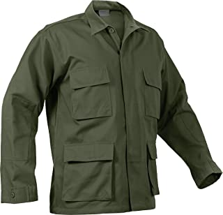 Military Men's 100% Cotton Rip Stop BDU Shirt, Made in USA