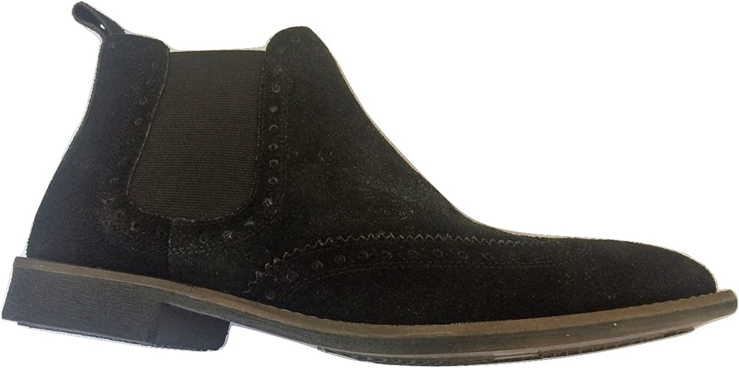 Men's Sherman Chelsea Style Black Real Suede Bred Boot