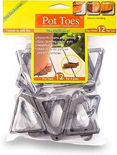 Bosmere Pot Toes, Dark Gray (Pack of 12)