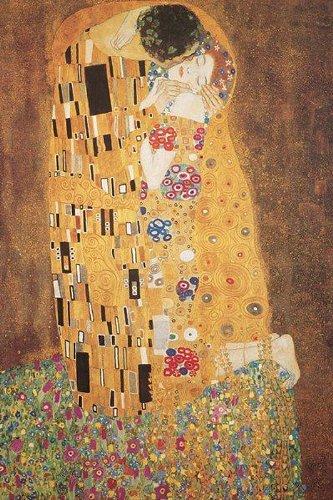 Close Up Der Kuss Kunstdruck Gustav Klimt (40cm x 50cm) + Ü-Poster