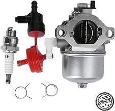 Carburetor For Walbro LMT 5-4993 17.5 HP Engine Motor w/Spark Plug, Fuel Filter, Shut Off Valve, Clamps