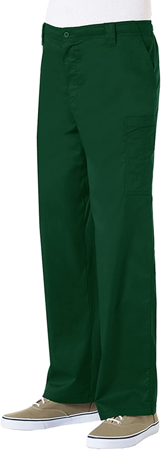 Maevn Mens' Stretch Cargo Scrub Pant with Zip Front (Tall, too)