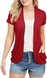 Inorin Womens Cardigans Short Sleeve Summer Lightweight Sheer Open Front Drape Sweater Tops