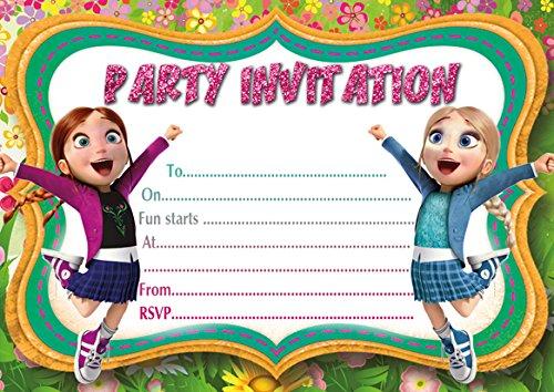 10 x Motif Elsa de La Reine des Neiges Invitations d'anniversaire enfant