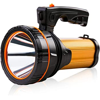 Linternas de mano Led Alta Potencia Recargable Lámparas Súper Brillante Potente Luz Lúmenes Altos práctico Grande Batería 10000mAh Pila Portátiles Eléctricas de Antorcha Estancas al aire libre Camping Emergencia ,Teléfono de Carga USB