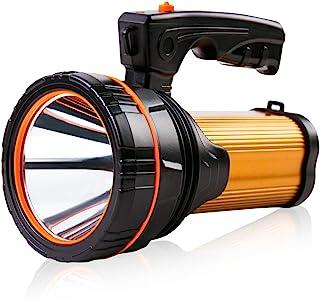 Super Bright Rechargeable Large 4 Batteries 10000mah LED Spotlight Flashlight Handheld..