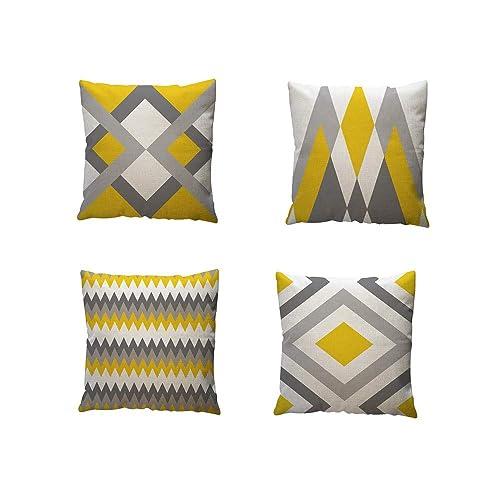 Cojines Amarilla para Sofa: Amazon.es