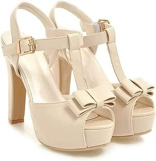 Summer Sandals Fish Mouth Sandals t Strap Shoes high Heels 12.5 cm Women Platform Sandals