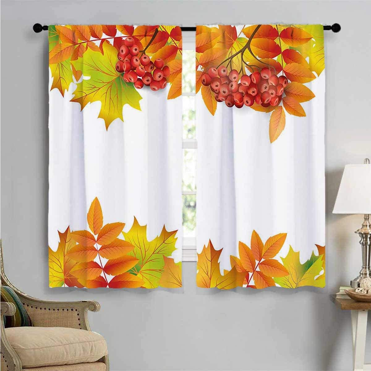 Bedroom Curtains Autumn Branches by OFFer Border Decor Louisville-Jefferson County Mall W84