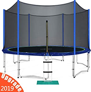 Zupapa Yard Trampoline with Enclosure 2019 New Upgraded Techniques Unbeatable Quality