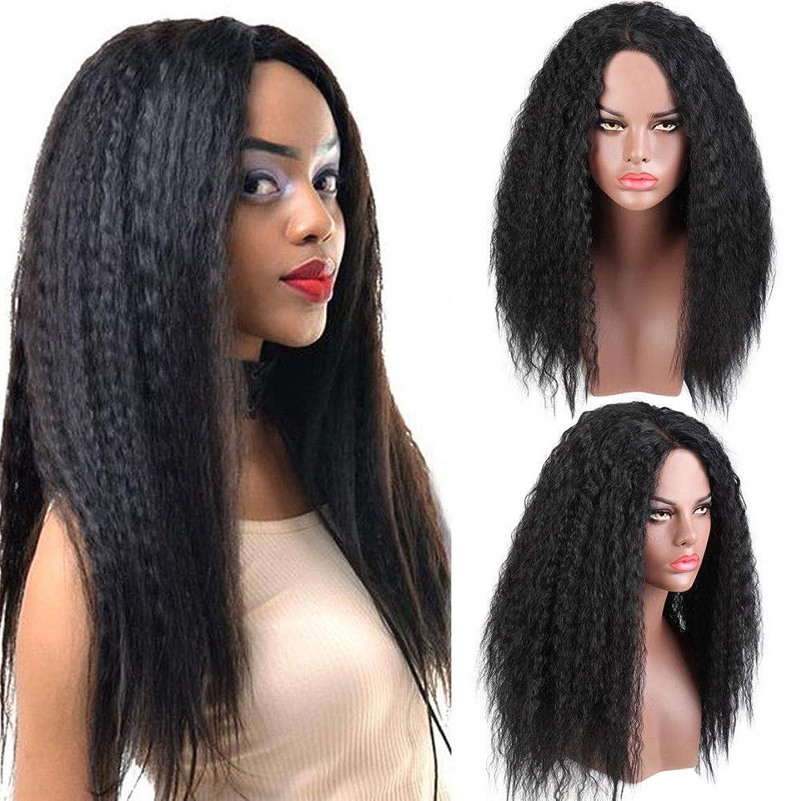 上記の頭と肩従順安心させるブラジルのレースフロント人毛ウィッグ女性180%密度本物の髪黒レースかつらで赤ん坊の毛髪自然な生え際24インチ