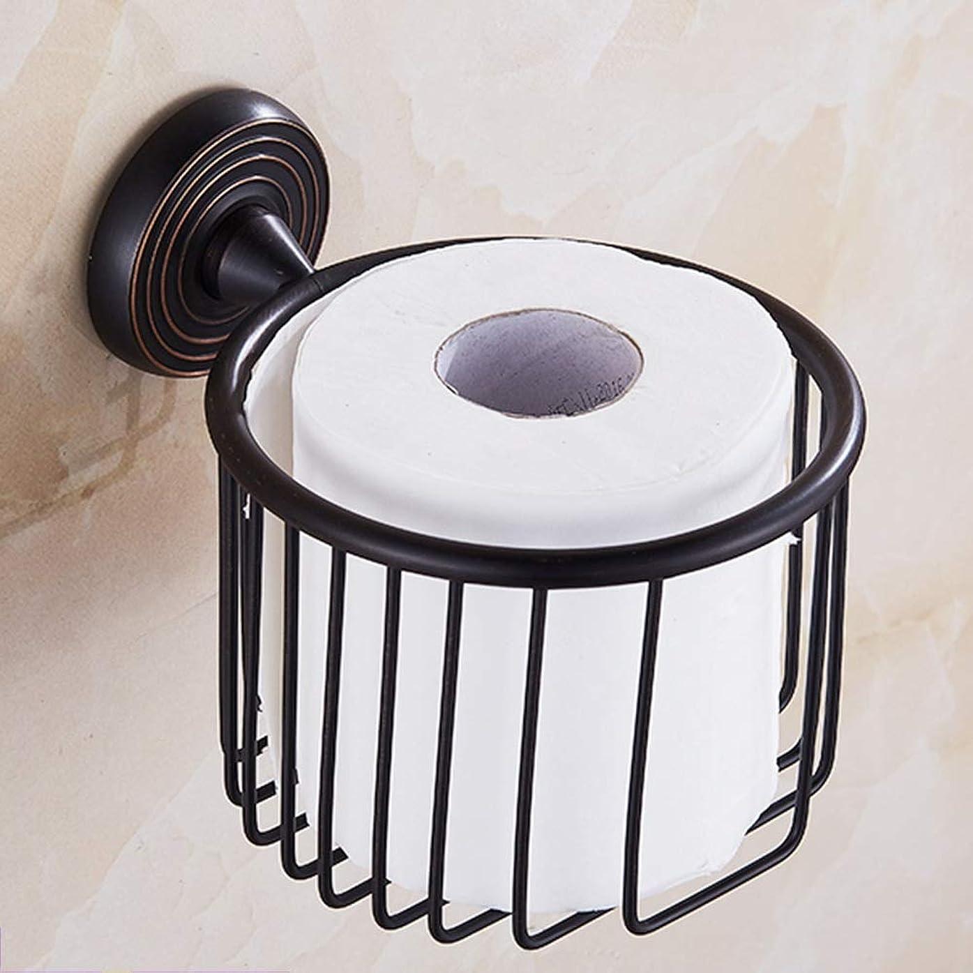 裂け目インフラ適性ZZLX 紙タオルホルダー、ヨーロッパスタイルのフル銅模倣アンティークペーパータオルロールペーパーホルダー ロングハンドル風呂ブラシ (色 : B)