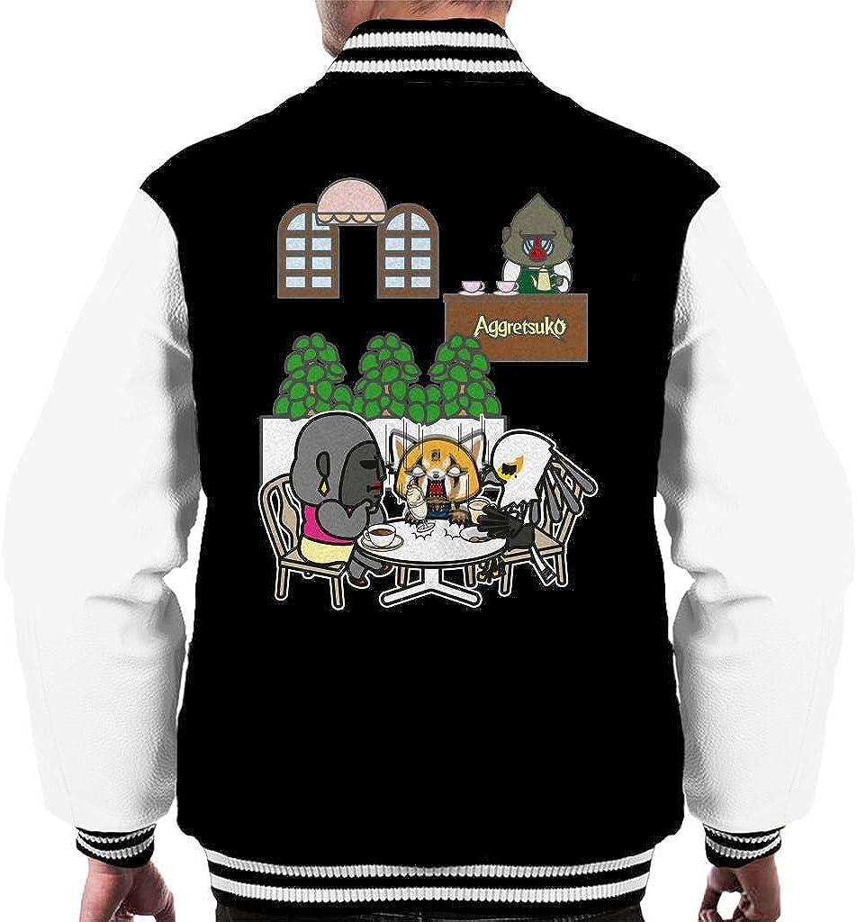 Free shipping Aggretsuko Afternoon Tea Retsuko Max 71% OFF Rage Varsity Men's Jacket