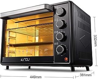 mkjia 32L Hornos de Sobremesa 230℃ 1500W Temporizador 120 Min Puerta de Bisagras Control de Temperatura Independiente Fermentación