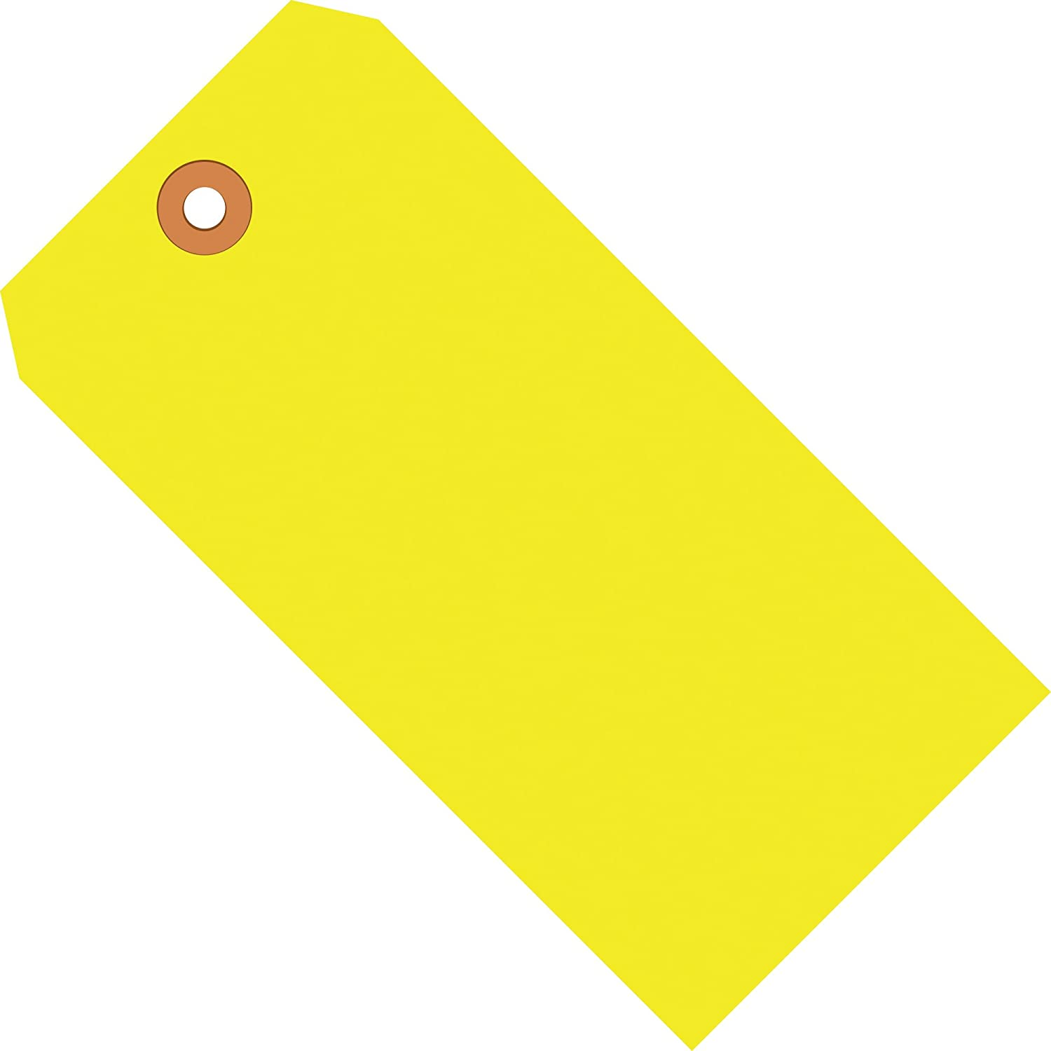 Fluorescent Yellow Shipping Tags, 13 Pt, 4 3/4