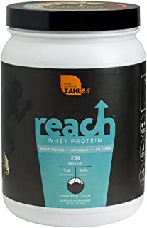 Zahler Reach, Whey Protein Powder, Advanced Formula for Lean Muscle Build, Certified Kosher, Great Tast (Cookies & Cream, 1 Pound)