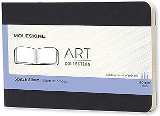 "Moleskine Art Plus Hard Cover Sketch Album, Plain, Pocket Size (3.5"" x 5.5"") Black - Sketch Pad for Drawing, Watercolor Pa..."