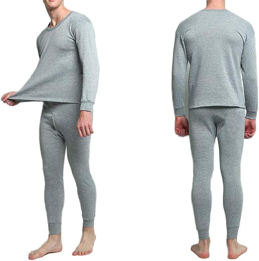 Mens Thermal Underwear Set Ultra Soft Pajamas Base Layer Top and Bottom Winter Warm Long John
