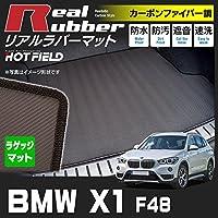 Hotfield BMW X1 F48 トランクマット ラゲッジマット (トランクマット ラゲッジマット) カーボンファイバー調 防水