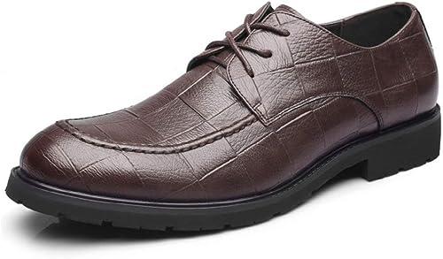 JINHAIXUE Chaussures Habillées en Cuir pour Hommes Mocassins à Talons Souliers