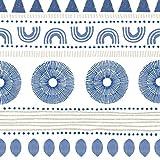 Servietten (2er Set / 40Stück) 3-lagig 33x33cm Ethno Style blau