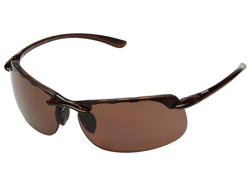 Hobie Pico (Polarized Shiny Brown Woodgrain/Copper Lens) Polarized Fashion Sunglasses