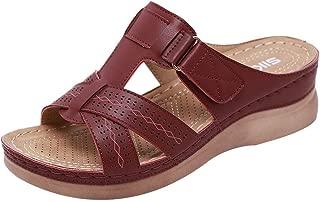 Women Summer Shoes, LIM&Shop 🌿 Comfy Flat Plus Size Slipper Soft Sole Wedges Sandal Non-Slip Leather Casual Flip Flops