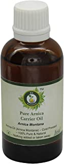 R V Essential Pure Arnica Carrier Oil 50ml (1.69oz)- Arnica Montana (100% Pure and Natural Cold Pressed)