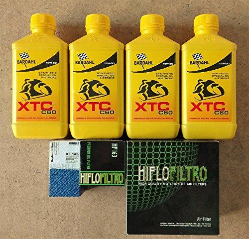 Kit Tagliando 4L Bardahl XTC C6015W501filtro aceite HiFlo 1filtro aire HiFlo hfa79101filtro combustible Mahle KL145para BMW R 1150R Rockster, Rockster Edition 8020042005Twin Spark