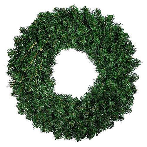 Suading 1 guirnalda de pino artificial verde para puerta delantera, ventana, chimenea, decoración navideña