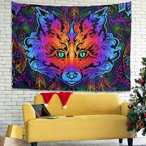 Xuanwuyi Dreamcatcher Animal Tapiz Picnic Interior fácil de empacar - Único para todas las estaciones de color blanco 200 x 149 cm
