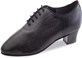 Black Leather Anna Kern Ladies Dance Shoes 624-50 5 cm