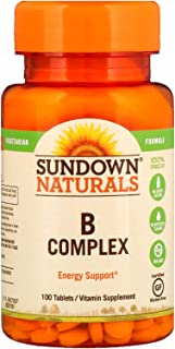 Sundown Naturals B-Complex Energy Support, 100 Tablets each (1 Pack)