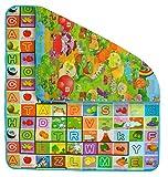 ISO TRADE Kindermatte Spielteppich Isoliert 180x200x0,5cm Krabbeldecke Bunt Tasche Tragbar 6402