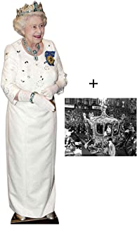 *COMMEMORATIVE PACK* - Queen Elizabeth II - Diamond Jubilee White Dress LIFESIZE CARDBOARD CUTOUT (STANDEE / STANDUP) - INCLUDES 8X10 (25X20CM) STAR PHOTO - FAN PACK #291