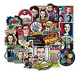 BLOUR 50 Stück The Big Bang Theory Cartoon Aufkle