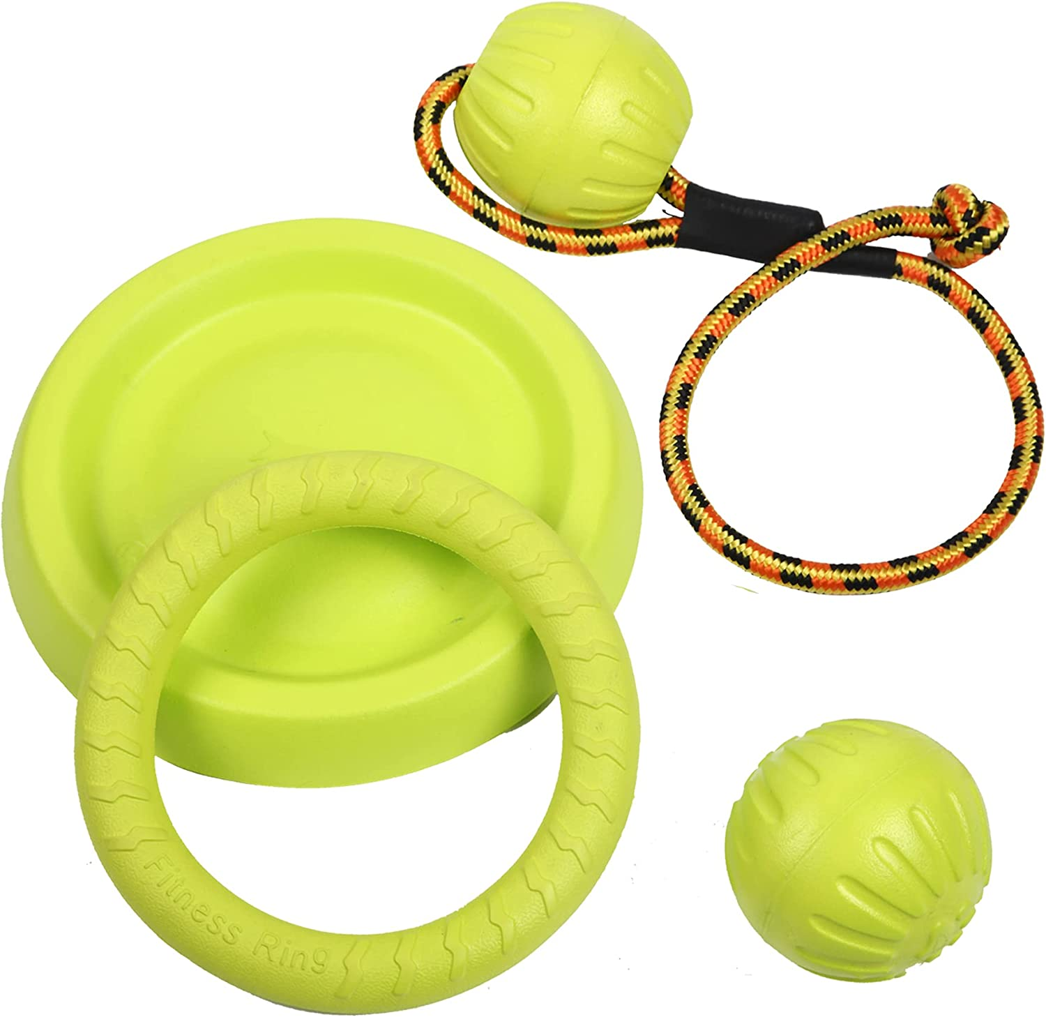 Dog Flying Discs Ring Toy Ball Rope on a Outlet ☆ Free Directly managed store Shipping for Wate