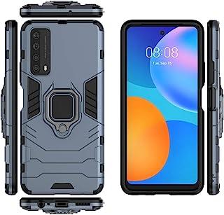 جراب QiongNi لهاتف Huawei Honor 10X Light، جراب واقي لمسند السيارة المغناطيسي لهاتف Huawei P Smart 2021 PPA-LX2 PPA-L22 / ...