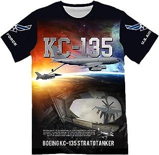 NIWAHO USAF Air Force Boeing KC-135 Stratotanker Print T Shirts for Men