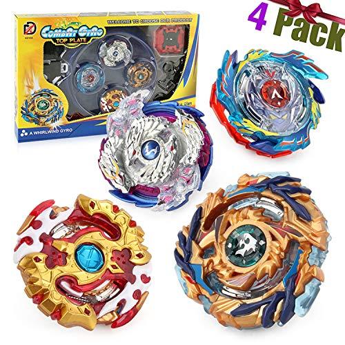 4 Pcs Gyro Spinning Fusión 4D Conjuntos de Metal, Beyblade Burst Peonzas, Gyro Launcher con Estadio, Regalo para Niños