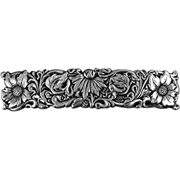 Wildflower Hair Clip, Medium Hand Crafted Metal Barrette Made in the USA with a 70mm Imported French Clip by Oberon Design