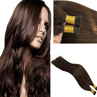 Googoo 50g 1g Per Strand I Tip Human Hair Extensions Chocolate Brown Remy Hair Extensions Pre Bonded Keratin Fusion Human Hair Extensions 18 inch