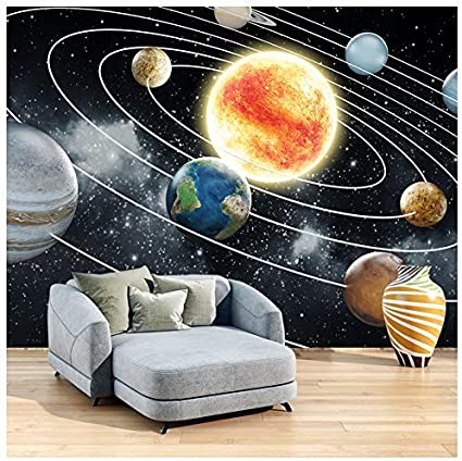 Azutura Solar System Space Wall Mural Wallpaper Available In 8 Sizes Digital Amazon Co Uk Diy Tools