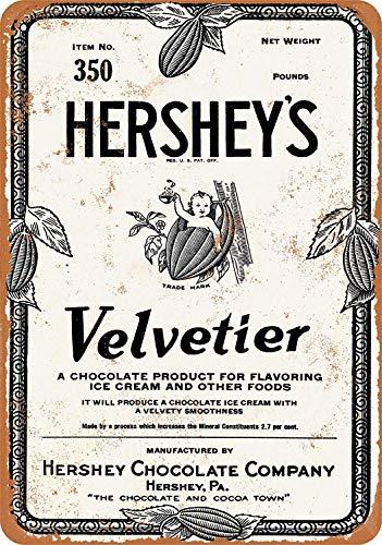Hershey's Velvetier Chocolade Siroop IJzeren Schilderij Muur Teken Creativiteit Gepersonaliseerde Metalen Plaque Art Vintage Decoratie Blad Ambachten Hangende Poster Cafe Bar Garage