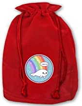 Bolsas de Regalo con cordón Christmas Drawstring Gift Bags Santa Sack Backpack for Party Favors and Candy, Icecream Shoelace