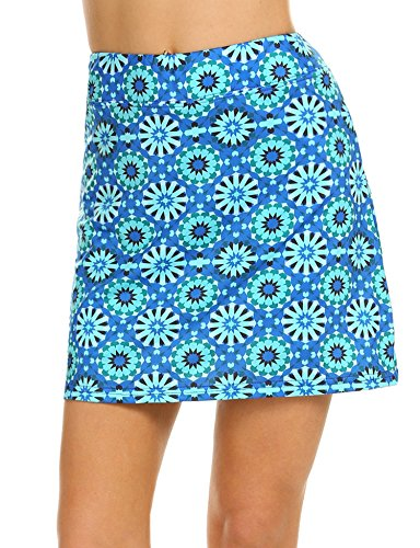 Ekouaer Golf Skorts for Women Breathable Comfy Mini Anytime Tennis Skirt with Short S-XXL